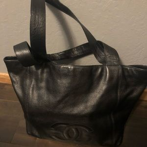 Authentic Chanel Caviar Leather Tote .